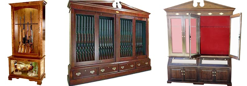 Gun Cabinets - Amish Woodworking Handcrafted Furniture Made In The USA