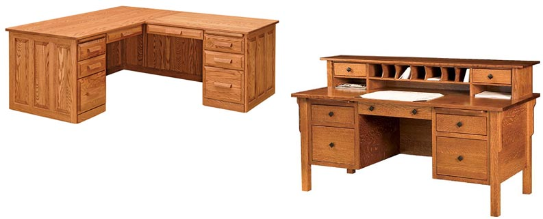 All Wood Office Furniture ~ Amish woodworking handcrafted furniture made in the usa