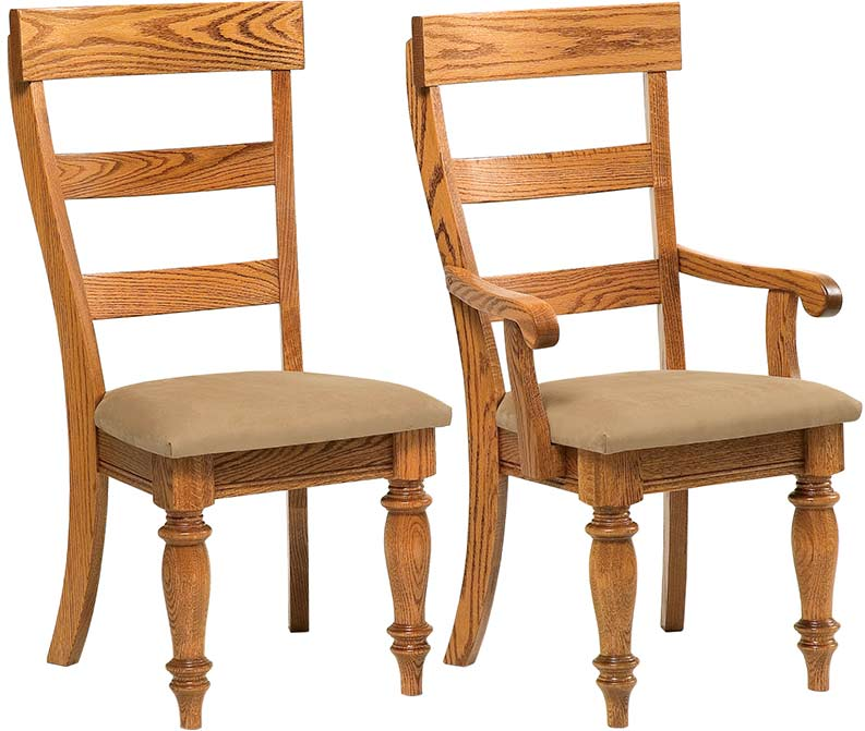 Kitchen Chairs With Caster High Back Amish